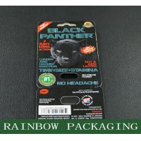 Buy cheap Sex Pills Packaging Black Panther Blister Card Packaging Custom Made from wholesalers