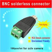 Buy cheap CAT5 To Camera CCTV Video AV Balun RCA female jack Connector,Environment friendly terminal cctv camera accessory from wholesalers