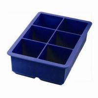 Buy cheap Blue Ice Cube Tray with 100% Food-grade Silicone Kitchenware and High/Low Pressure Resistances from wholesalers