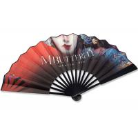 Buy cheap 33cm silk fabric colorfull printing tradition big Chinese art fan product