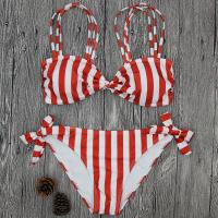 Buy cheap Wholesale and Retail 2018 Women Sexy Striped Bowknot Brazilian Bikini Set from wholesalers