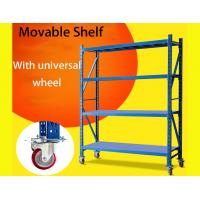 Buy cheap Light Duty Warehouse Storage Shelves Movable Shelving Units With Universal Wheel / Brake from wholesalers