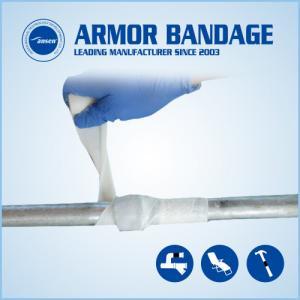 China Black Emergency Fiberglass Water Oil Pipe Leak Fix Wrap Tape With MSDS Industrial Pipe Leak Fix Bandage Repair Water-act on sale