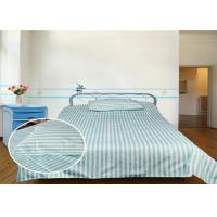 Buy cheap Economy Hospital Bed Fitted Sheets 40S 220TC Stripe 100% Cotton from wholesalers