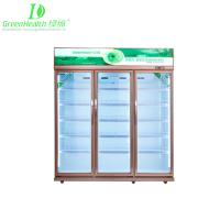 Buy cheap Green & Health Double Glass Door Pepsi Commercial Beverage Cooler / Upright Refrigerator With Wheels from wholesalers