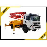 Buy cheap Isuzu Chassis 37 Meter Small Concrete Boom Pump Truck  Highly Wear - Resistant from wholesalers
