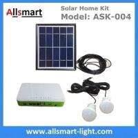 Buy cheap DC Indoor Solar Home Lighting System Kit With 2 Bulbs 5M Wire Solar Emergency Camping Light Can Charge Mobile Cell Phone from wholesalers