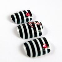 Buy cheap Decorated Nail Art Fake Nails , nail art jewels Pink with Rhinestone from wholesalers