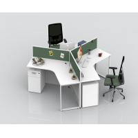 Buy cheap Office Stand Computer Partition Workstation Tables With Cabinets Height Adjustable from wholesalers