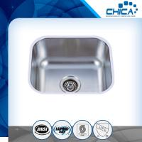 Buy cheap Four tap hole stainless steel sink with single bowl and stain polish for america market with SUS304 from wholesalers