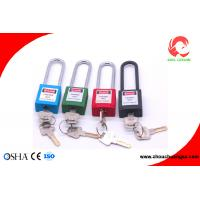 Buy cheap Bulk Industry Nylon Body 76mm Stainless Steel Shackle Safety Padlock from wholesalers