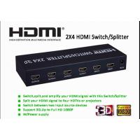 Buy cheap 2x4 HDMI Switch/Splitter Supports 3.5MM Aux Audio Output and SPDIF Audio Output from wholesalers