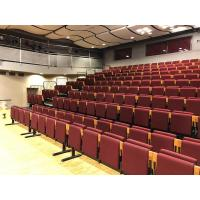 Buy cheap Riser Mounted Retractable Bleacher Seating Theaters Chair With Red Fabric Upholstery from wholesalers