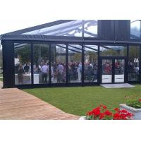 Buy cheap High Reinforced Aluminum Outdoor Wedding Tents With Sidewalls Glass Cover 20x20m from wholesalers
