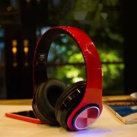 Buy cheap BH3 Glowing Headphones Bluetooth 4.1 Wireless Stereo Portable Foldable Headphone TF Card LED Light Wired Earphone Mic fo from wholesalers