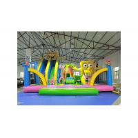 Buy cheap Spongebob And Patrick Star Bouncer With Slide Inflatable Amusement Park from wholesalers