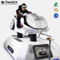 Buy cheap Coin operated 9D VR Racing Simulator, 9d vr Car Driving 3 DOF dynamic platform interactive games from wholesalers