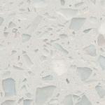 Buy cheap Bright Black Terrazzo Tile , Terrazzo Vinyl Floor Tiles Vibrant Marvelous Texture from wholesalers