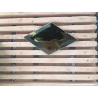 Buy cheap Stained Beveled Edge Glass Mini Size 50 Mm * 50 Mm Flat Round Beveled Edge from wholesalers