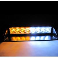 Buy cheap White / Amber 8-LED  Strobe Light Lamp Bar Police Emergency Car Boat Truck Dash from wholesalers