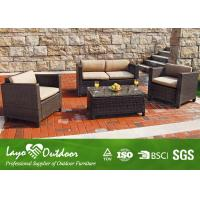 Buy cheap Outdoor Rattan Sofa Patio Seating Sets KD Style Backyard Furniture Steel Frame from wholesalers