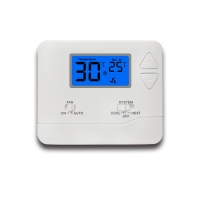 Buy cheap White LCD Display Digital Room Thermostat For HVAC Systems from wholesalers