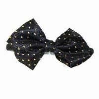 Buy cheap Fabric Bow Headband, Measures 1cm, Available in Black, with Gold Dots from wholesalers
