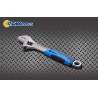 Buy cheap Black Nickel 2- Tone PVC Grip Adjustable Spanner Wrench , Automotive Hand Tools from wholesalers