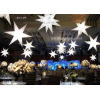 Buy cheap Star Shape Inflatable Lighting Decoration with strong and beautiful Polysilk material 1200W halogen from wholesalers