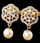 Buy cheap noble gem pearl alloy earrings from wholesalers
