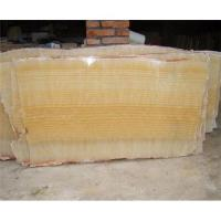 Buy cheap Yellow onyx marble slab from wholesalers