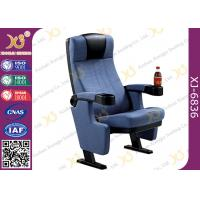 Buy cheap Heavy Iron Frame Cinema Hall Theatre Seating Chairs With Cup Holder from wholesalers
