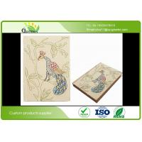 Buy cheap Custom Hard Cover Sketchbook with Delicate Embroidered Pattern Fabric Cover from wholesalers