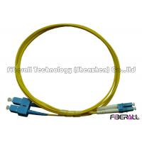 Buy cheap SC To LC Fiber Patch Cable , Optical Fiber Patch Cord SM Duplex With Pulling Eye from wholesalers