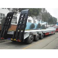 Buy cheap 60 Tons - 100 Ton Lowboy Trailer , Low Bed Semi Trailer 2 Axles / 3 Axles / 4 Axles from wholesalers