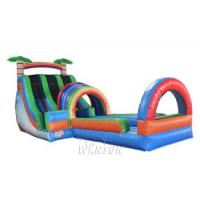 Buy cheap Simple Structure Dual Lane Water Slide With Pool For Amusement Park Ce Standard from wholesalers