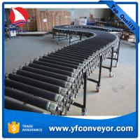 Buy cheap Rubber Coated Powered Roller Conveyor,Flexible Loading Unloading Conveyor from wholesalers