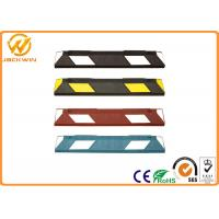 Buy cheap Car Rubber Wheel Stopper with Yellow Reflective Tape Easy Installation. from wholesalers