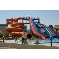 Buy cheap Commercial Huge Toddler Water Slide , Custom Pool Water Slides 4 Lines 6 - 8mm,TUV combination fiberglass water slide from wholesalers