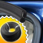Buy cheap car garage door gasket rubber seal strip upvc shower sliding exterior bottom from wholesalers