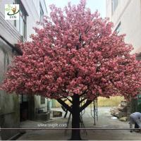 Buy cheap UVG 4m Indoor home artificial cherry blossom landscape trees for birthday party decoration from wholesalers