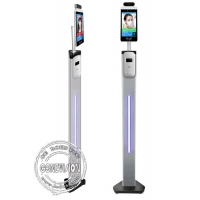 Buy cheap 8 Thermometer Hand Sanitizer Dispenser Wifi Digital Signage Facial Recognition Camera Body Temperature Measurement from wholesalers
