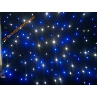 Buy cheap AC220V/ 50HZ Wedding Event Party Decoration Fire Retardant Velvet Fabric  LED Star Curtain from wholesalers