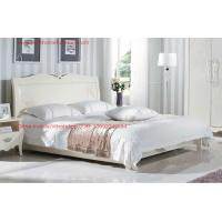Buy cheap Neoclassical style Bed furniture by Rubber solid wood in Pure white color from Italy design product