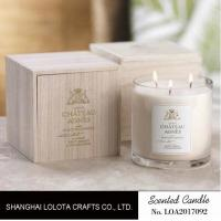 Luxury Three Wick Scented Candles , Multi Colored Soy Wax Candle With Wooden Box