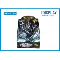 Buy cheap Hair Ornaments Cardboard Floor Display Stands , Foldable Display Stand With Hooks from wholesalers