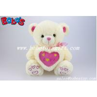 Buy cheap 12/16/20/26/31Manufacturer Boys Toy Beige teddy bear with love heart pillow from wholesalers