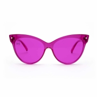 Buy cheap Color Therapy Cat Eyes Plastic Frame Magenta Lens Sunglasses from wholesalers