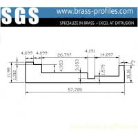 Buy cheap DIY Sizes Brass L-Bar Extruding 58mm x 12mm Extruded Copper L-Sheet from wholesalers