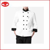 Buy cheap White Women Chef Works Clothing , custom made chef Wear UK Coats XS - 3XL from wholesalers